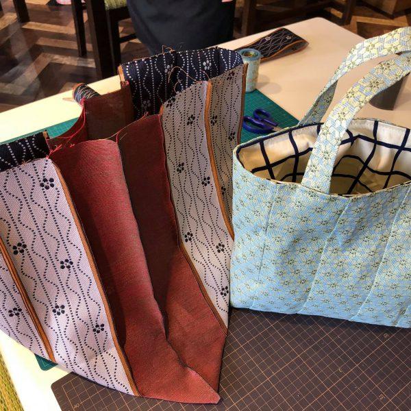 はじめての畳縁バッグ作り ~お店でワークショップ